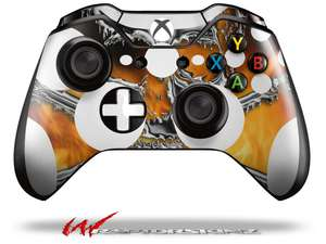 Chrome Skull on Fire - Decal Style Skin fits Microsoft XBOX One Wireless  Controller - CONTROLLER NOT INCLUDED - OEM