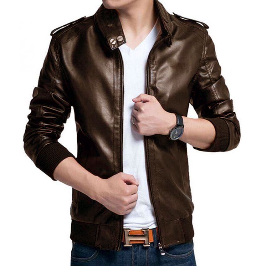 Highstreet Leather Jacket B666Brown2 Price In Pakistan