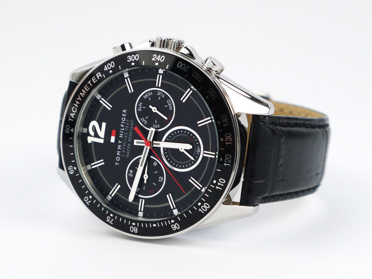 53c2d0b57 Tommy Hilfiger 1791117 Sophisticated Sport Watch With Black Leather Band