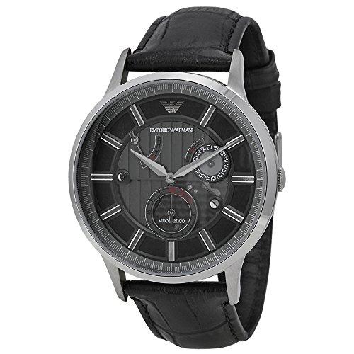 1ba386b5410d7 HomeFashionMenWatchesEmporio Armani Meccanico Automatic Black Dial Black  Leather Mens Watch AR4656. image