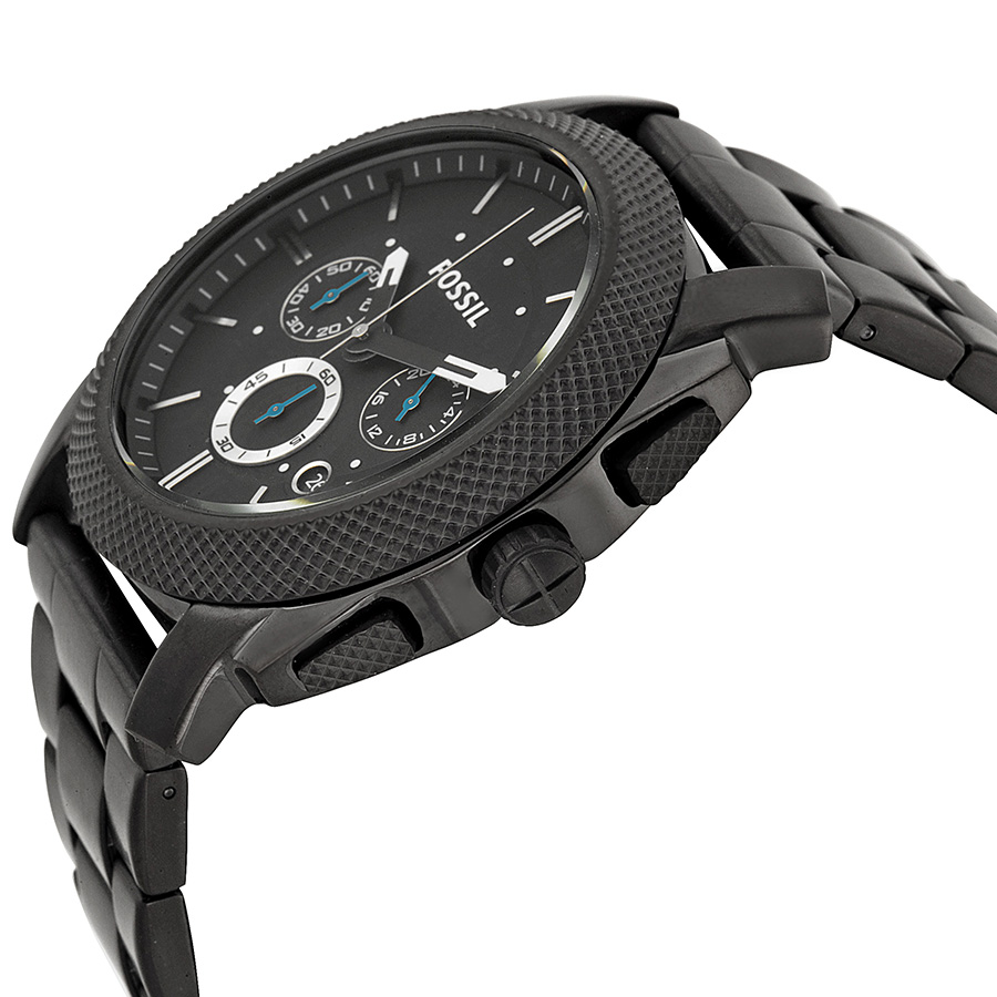 fossil s fs4552 machine black stainless steel chronograph