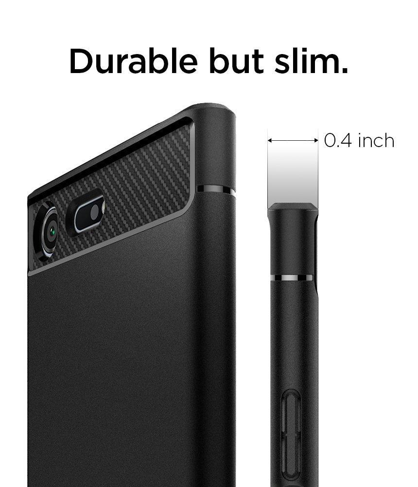 buy popular fc3e4 46af1 Sony Xperia XZ Premium Spigen Rugged Armor Case Black