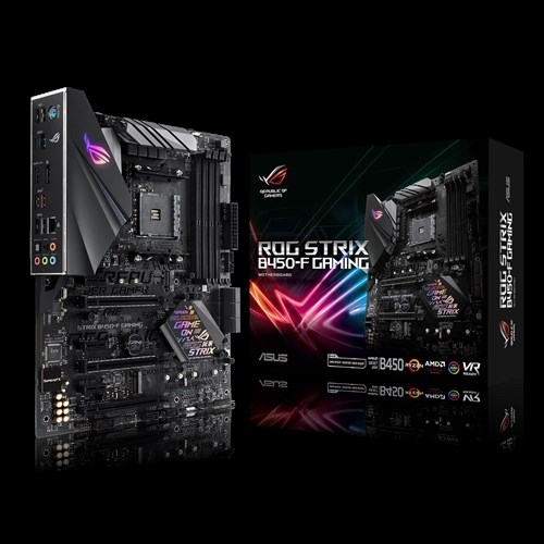 ASUS AMD AM4 B450 ATX Gaming With DDR4 3200mhz Support, SATA 6Gbps, HDMI  2 0, Dual Nvme M 2, USB 3 1 Gen 2, And Aura Sync RGB LED Lighting  Motherboard