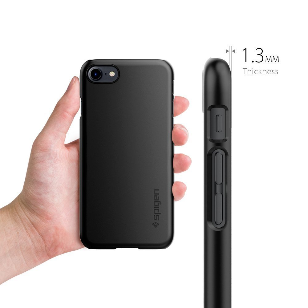 on sale 4ef21 cbde9 Spigen iPhone 8 / 7 Case Thin Fit Black (AMT-2553)