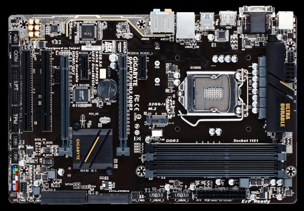 GigaByte GAH170HD3 DDR3 Intel® H170 Chipset Motherboard P