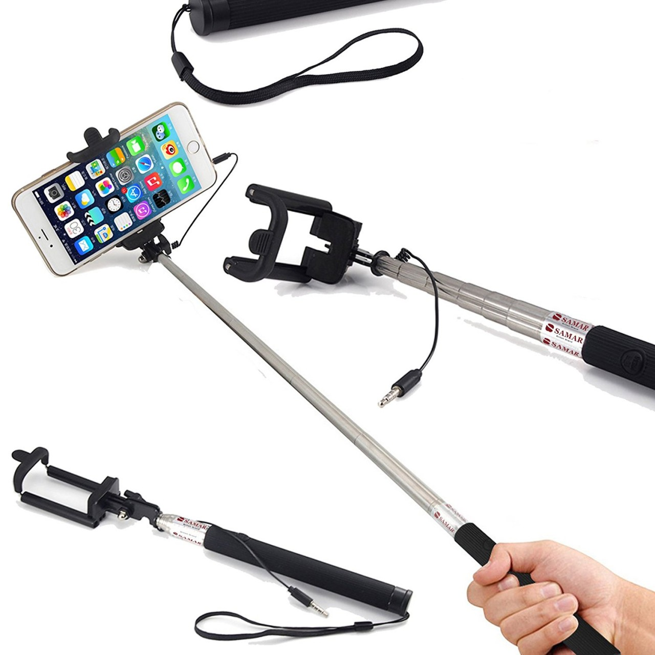 samar selfie stick with builtin remote price in pakistan. Black Bedroom Furniture Sets. Home Design Ideas