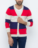 Fifth Avenue Navy  Red 100 Cotton Cardigan For Men in Pakistan
