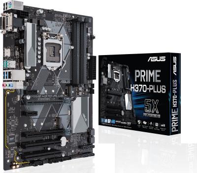 ASUS Prime H370-Plus LGA1151 DDR4 HDMI DVI VGA M 2 ATX Motherboard (3 Year  Limited Warranty)