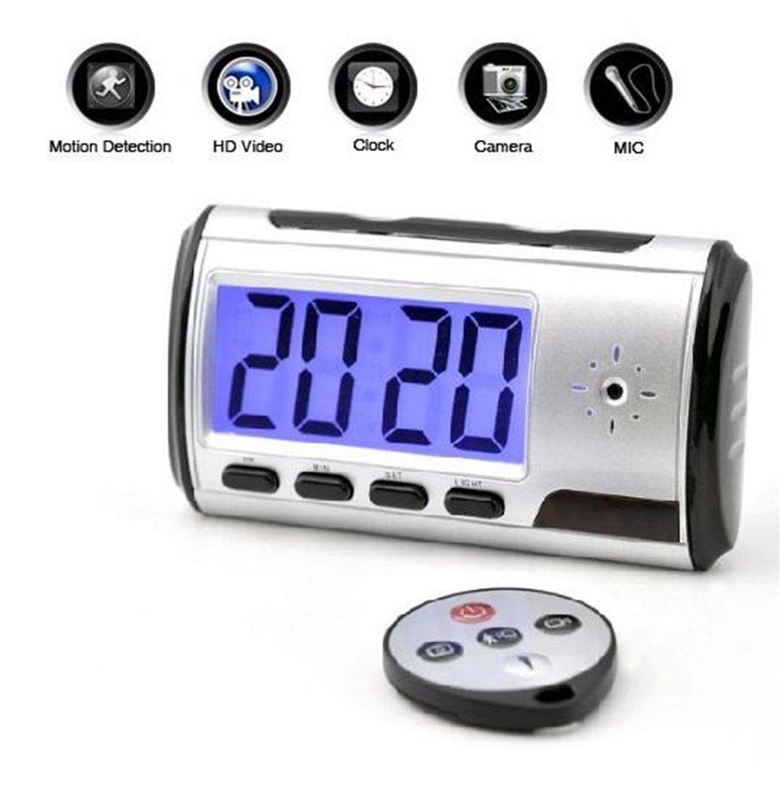 hidden table clock camera with remote price in pakistan. Black Bedroom Furniture Sets. Home Design Ideas