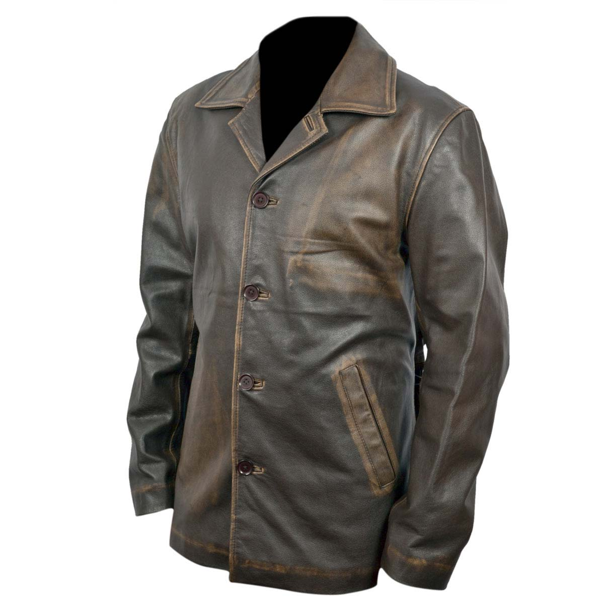 supernatural dean winchester distressed brown long leather jacket price in pakistan. Black Bedroom Furniture Sets. Home Design Ideas