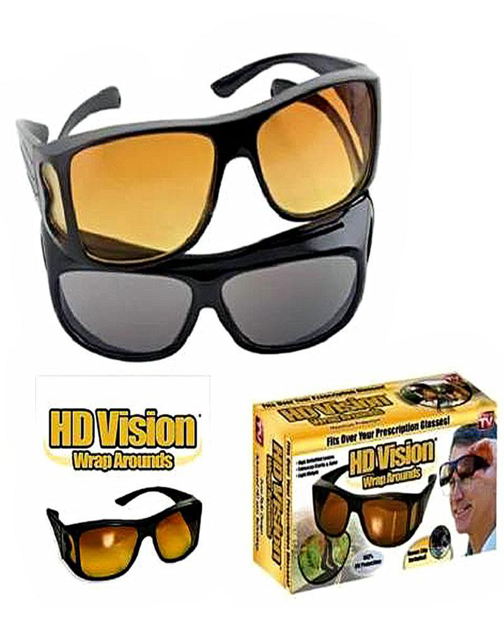 1303b1adda Pack of 2 - HD Night Vision   day Glasses - Black   Yellow