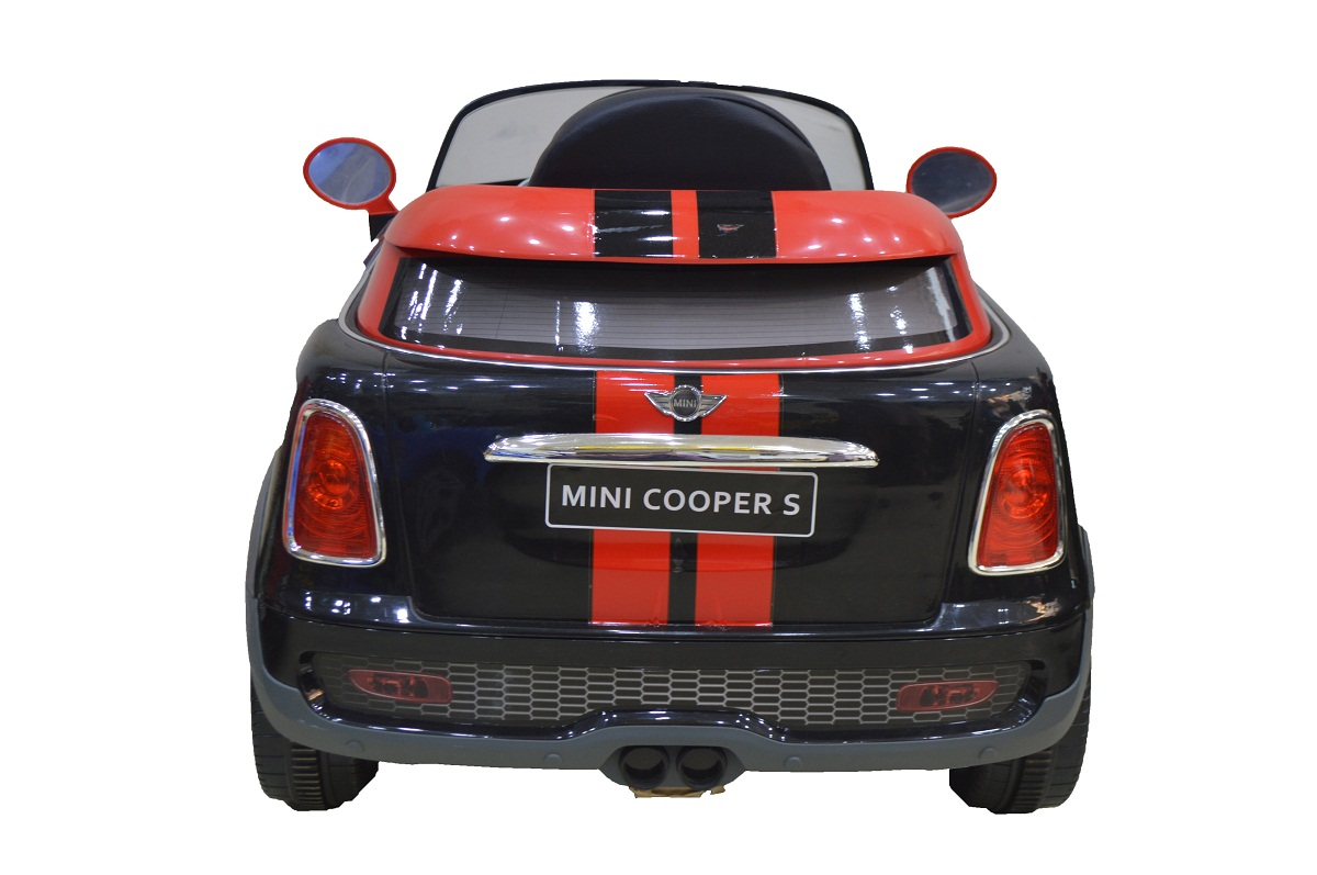 electric car mini cooper s black and red model no 456 for. Black Bedroom Furniture Sets. Home Design Ideas