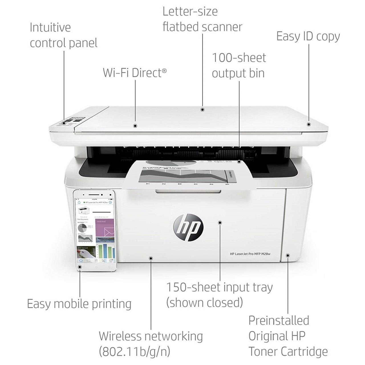 HP LaserJet Pro M28w Multi-Function Printer (1 Year Warranty)