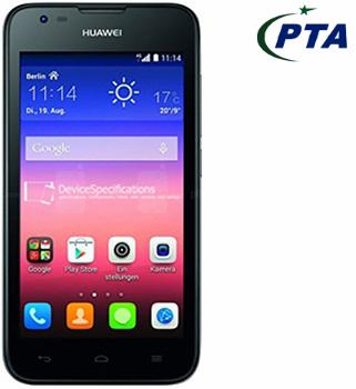 Huawei Ascend Y550 (4G, 4GB, Black) Price in Pakistan