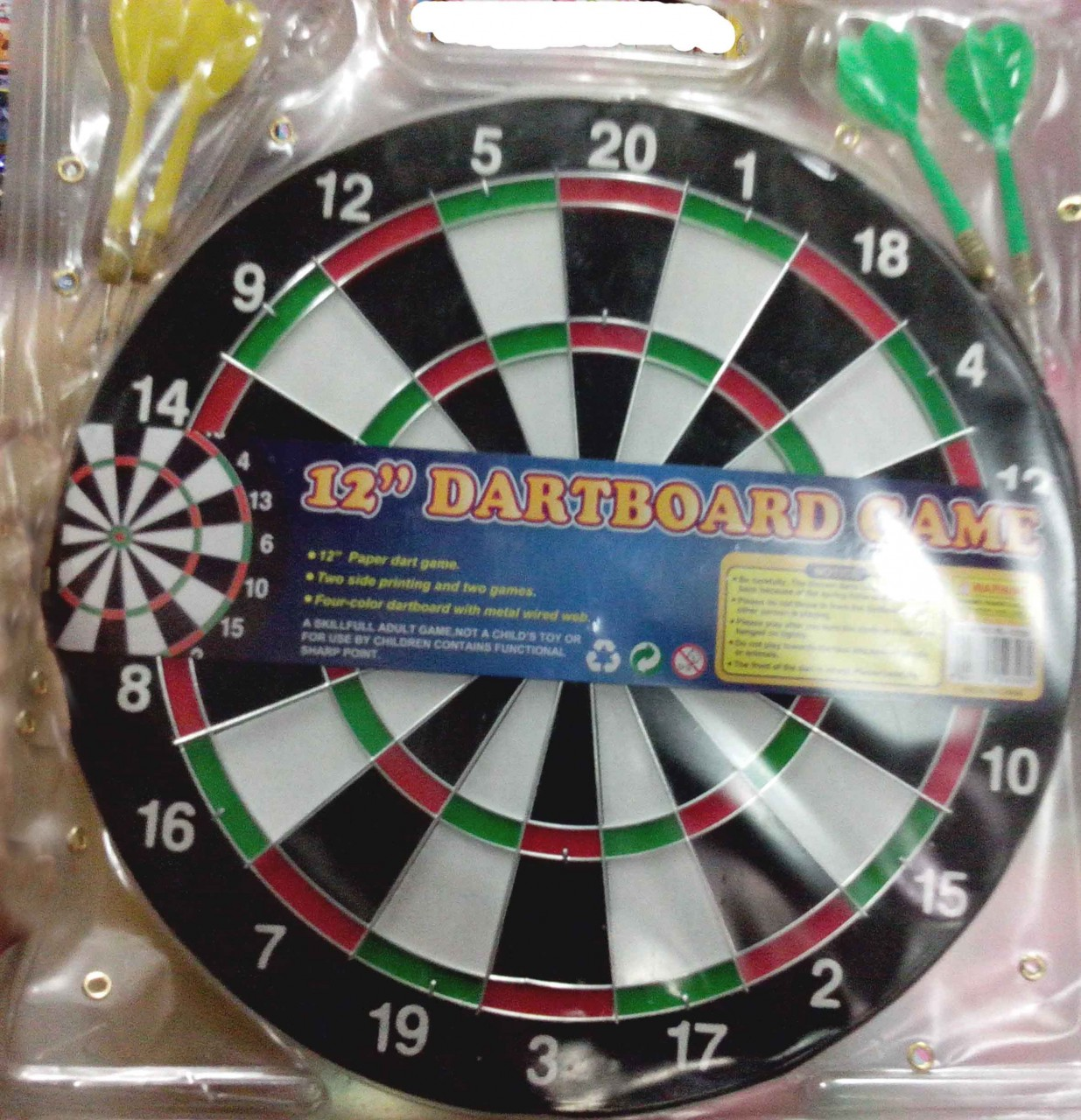 Baili 12 Small Hard Board Dart Game For Kids Tr12072018 Home