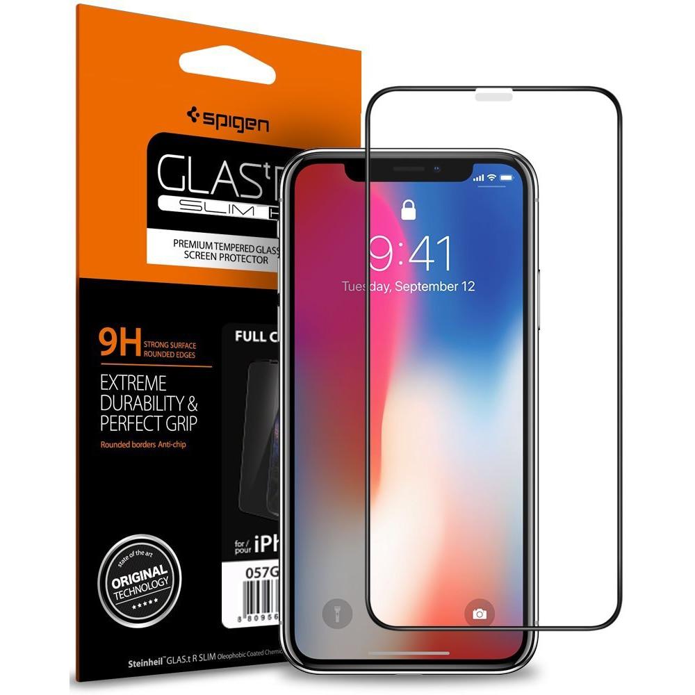 sale retailer ca192 9f29e Spigen iPhone X Glass FC HD Black (1Pack) (AMT-2043)