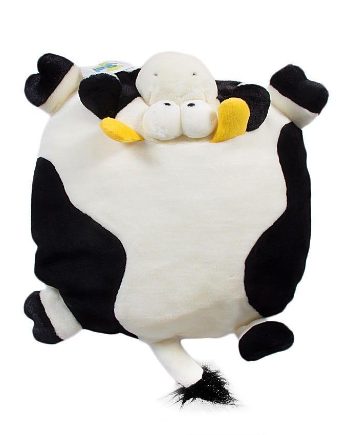 Cow Pillow - White & Black