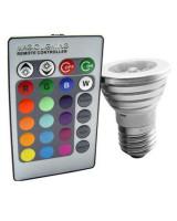 SE Light LED RGB Remote Controlled Bulb  3 Watt in Pakistan
