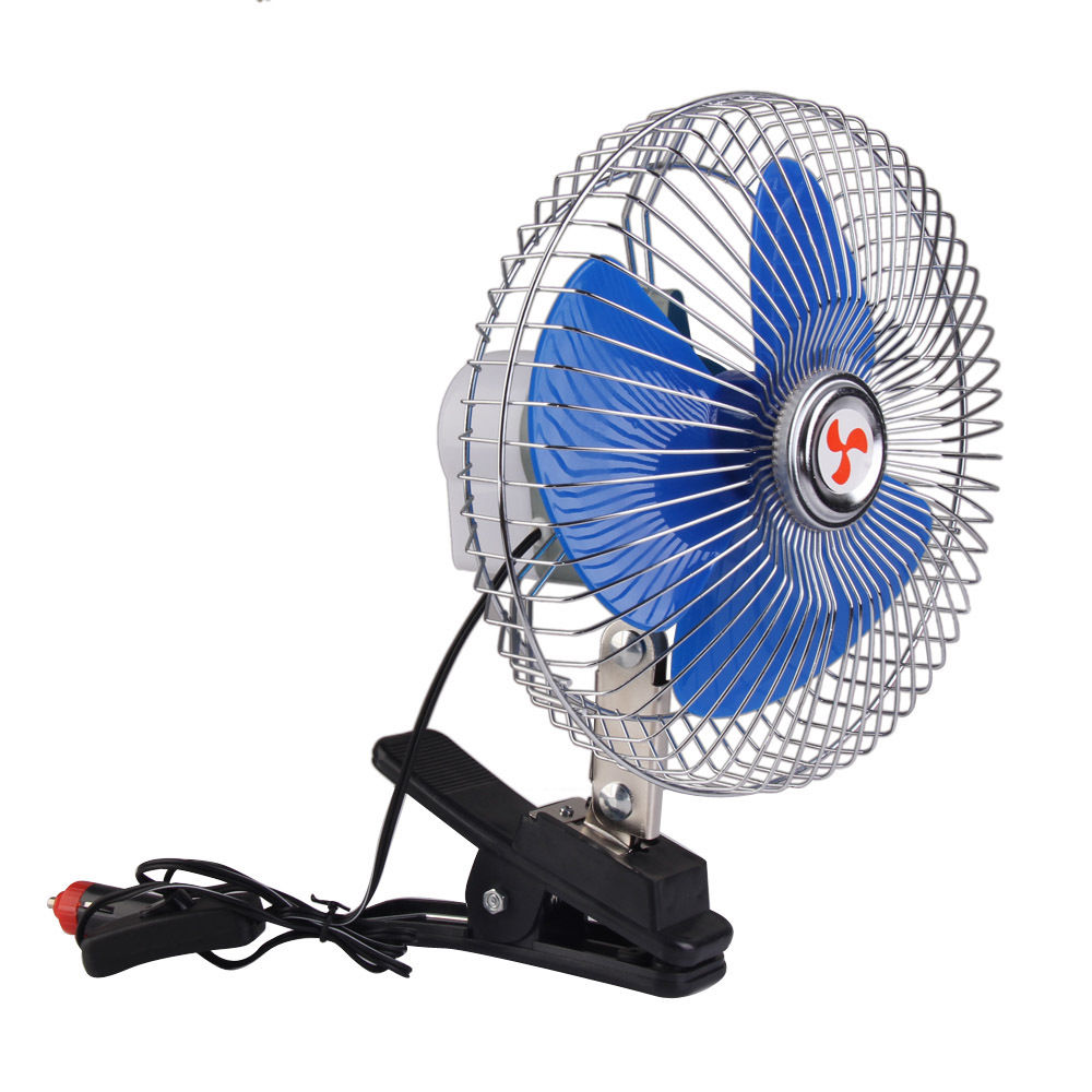 car oscillating cooling fan with clip home shopping. Black Bedroom Furniture Sets. Home Design Ideas