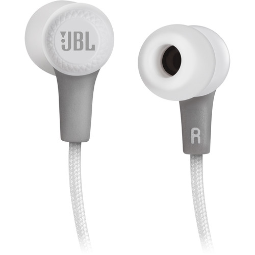 jbl bluetooth in ear headphones white jble25btwht price. Black Bedroom Furniture Sets. Home Design Ideas