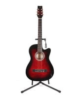New Year Dea POWER 38C CUTWAY ACOUSTIC GUITAR RED BURST With Bag Picks And Belt price in Pakistan