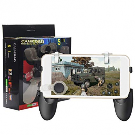 5 in 1 Mobile Game Controller PUBG Mobile Controller pubg Key Gaming Grip  Gaming Joysticks 4 5-6 5inch Android iOS Compatible Phone