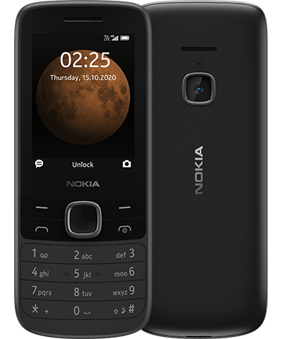Nokia 225 4G - Black With Official Warranty