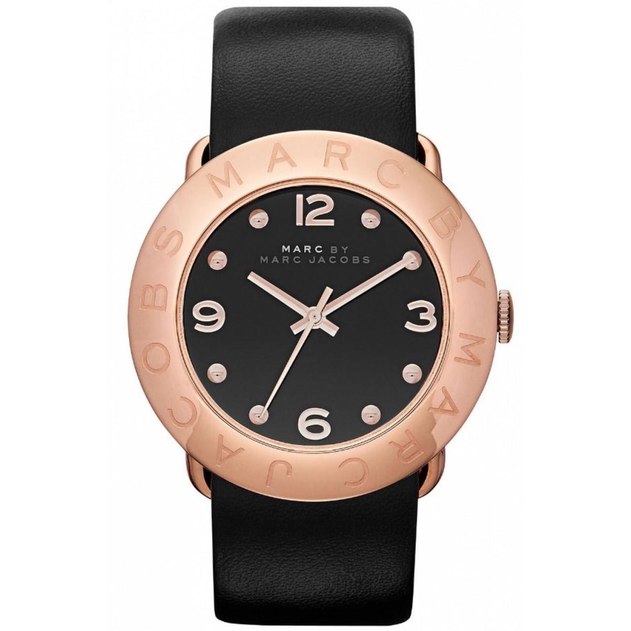 Marc by Marc Womens MBM1225 Black Leather Quartz Watch