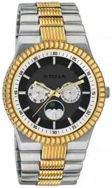 Titan Two Tone Stainless Steel Men's Watch - 1532BM02