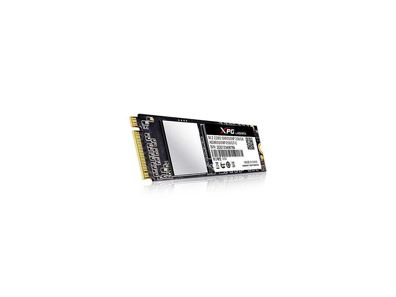 XPG SX6000 256GB M 2 PCIe NVMe Internal SSD w/ DIY Heatsink  (ASX6000NP-256GT-C)
