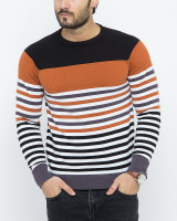Fifth Avenue Dark Orange Cotton Sweater for Men 16735S13 in Pakistan