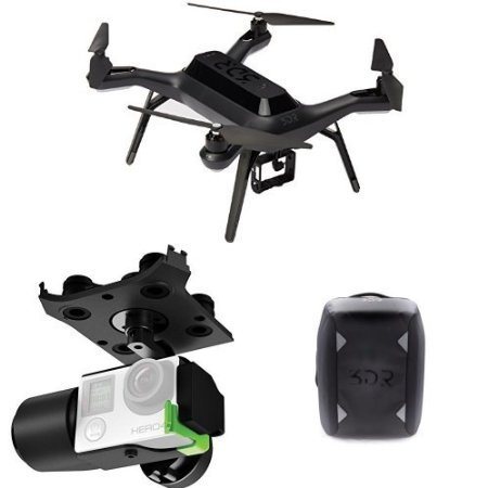 3DR Solo Drone Quadcopter EU BB15A w/ Gimbal and Backpack