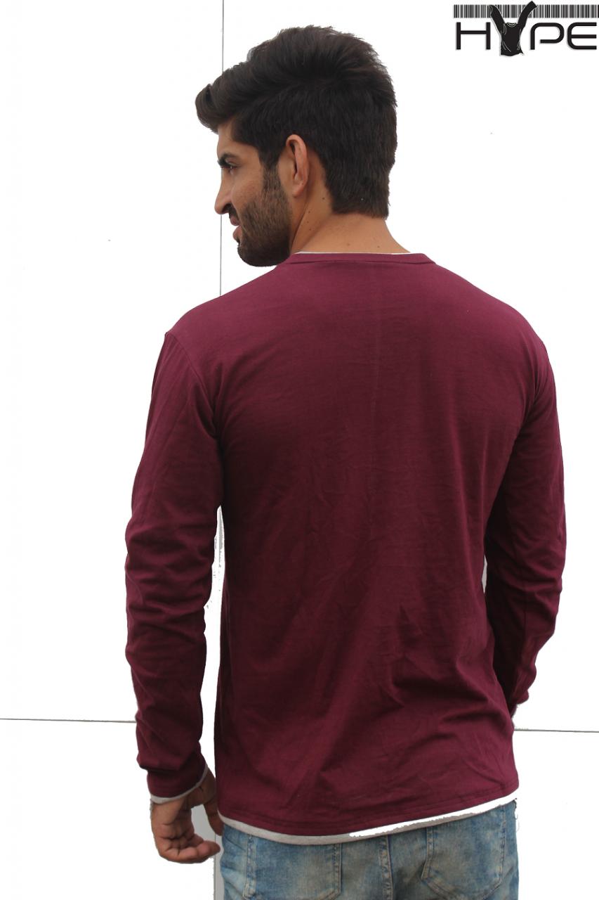 Men maroon v neck t shirt in pakistan home shopping for Maroon t shirt for men