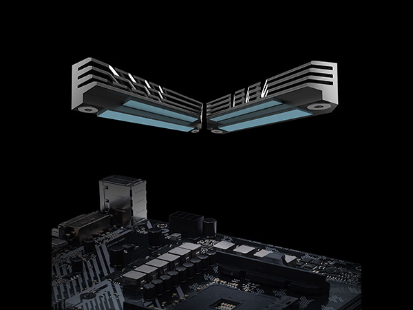 ASUS AMD B450 ATX Gaming With Aura Sync RGB LED lighting, DDR4 3533MHz  Support, Dual M 2, and native USB 3 1 Gen 2 Motherboard (3 Years Limited