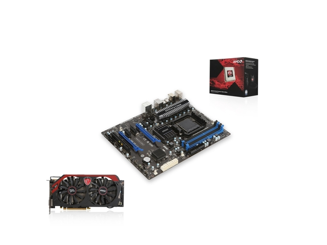 AMD FX SuperCombo PAA-6140: AMD FX-9370 4 4GHz 8-Core CPU with Liquid  Cooling Kit , MSI 990FX Motherboard, MSI R9-280X 3GB Graphics Card