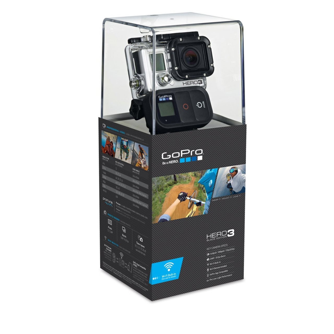 GoPro HERO3 Black Edition in Pakistan Supports 4K,, 1080p