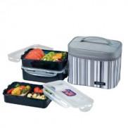 Dish Box 800 ml Dish Box 1L  Dish Box w3 Sect 800 ml Bag Gray Price In Pakistan