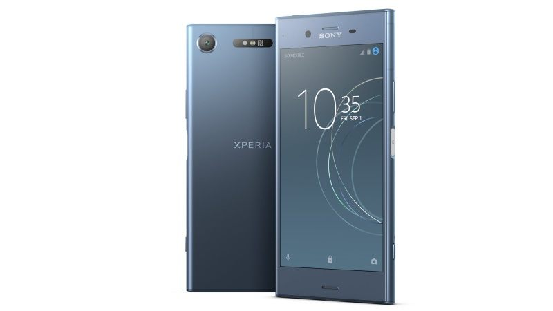 Sony Xperia XZ1 Dual Sim (4GB RAM, 64GB ROM, Moonlight Blue) Finger Print