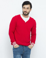 Fifth Avenue Red Cotton Sweater For Men in Pakistan
