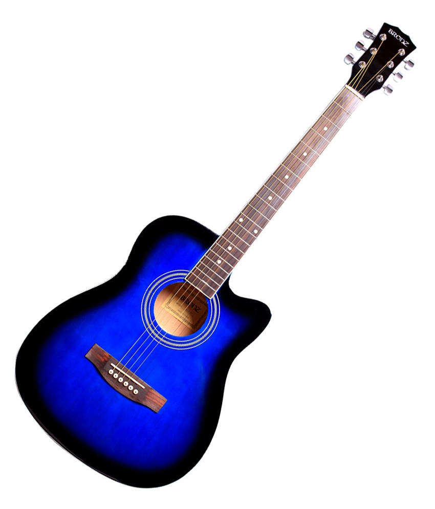 White Friday Deal Italian Acoustic Student Guitar Blue Bu