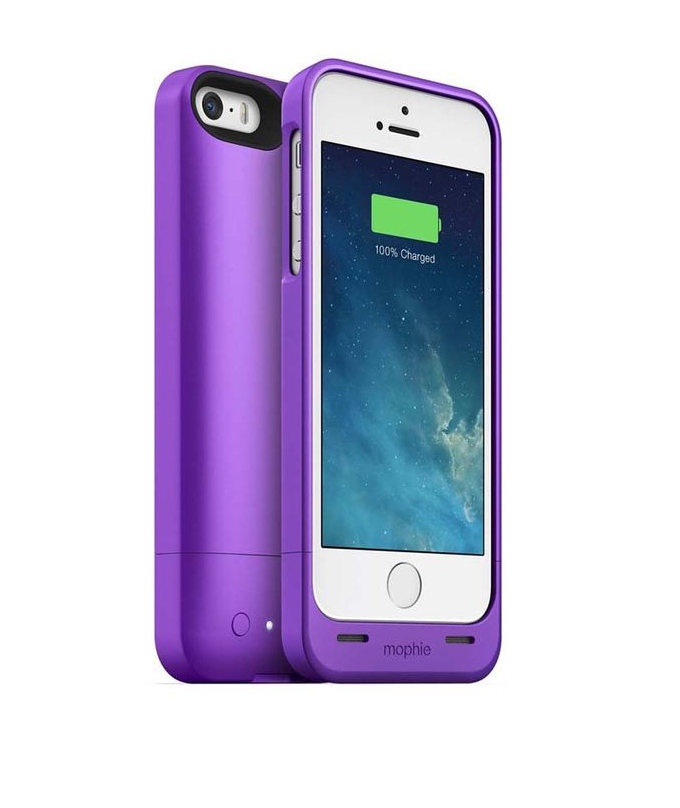 sports shoes 4c0a0 d6385 Mophie Battery Case for iPhone 5 & 5s - Purple