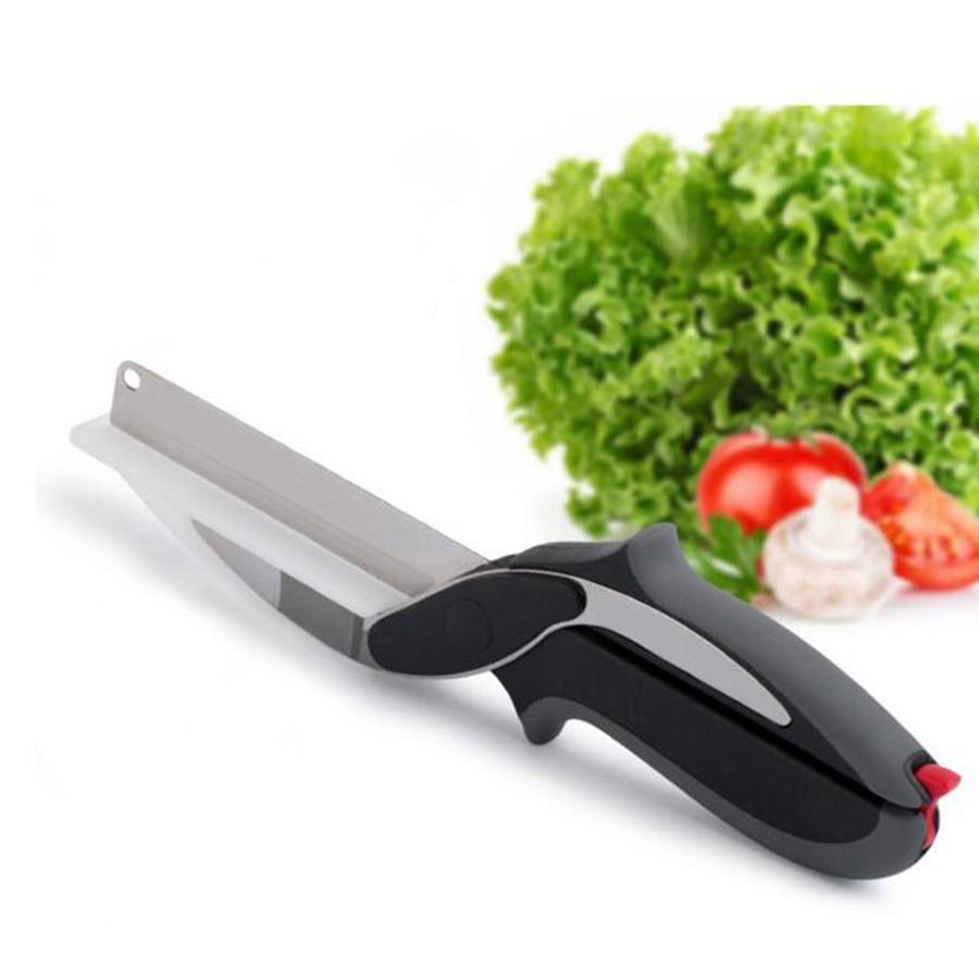 ... Clever Cutter 2 in 1 - Knife & Board Cutting Chopper - Black. image