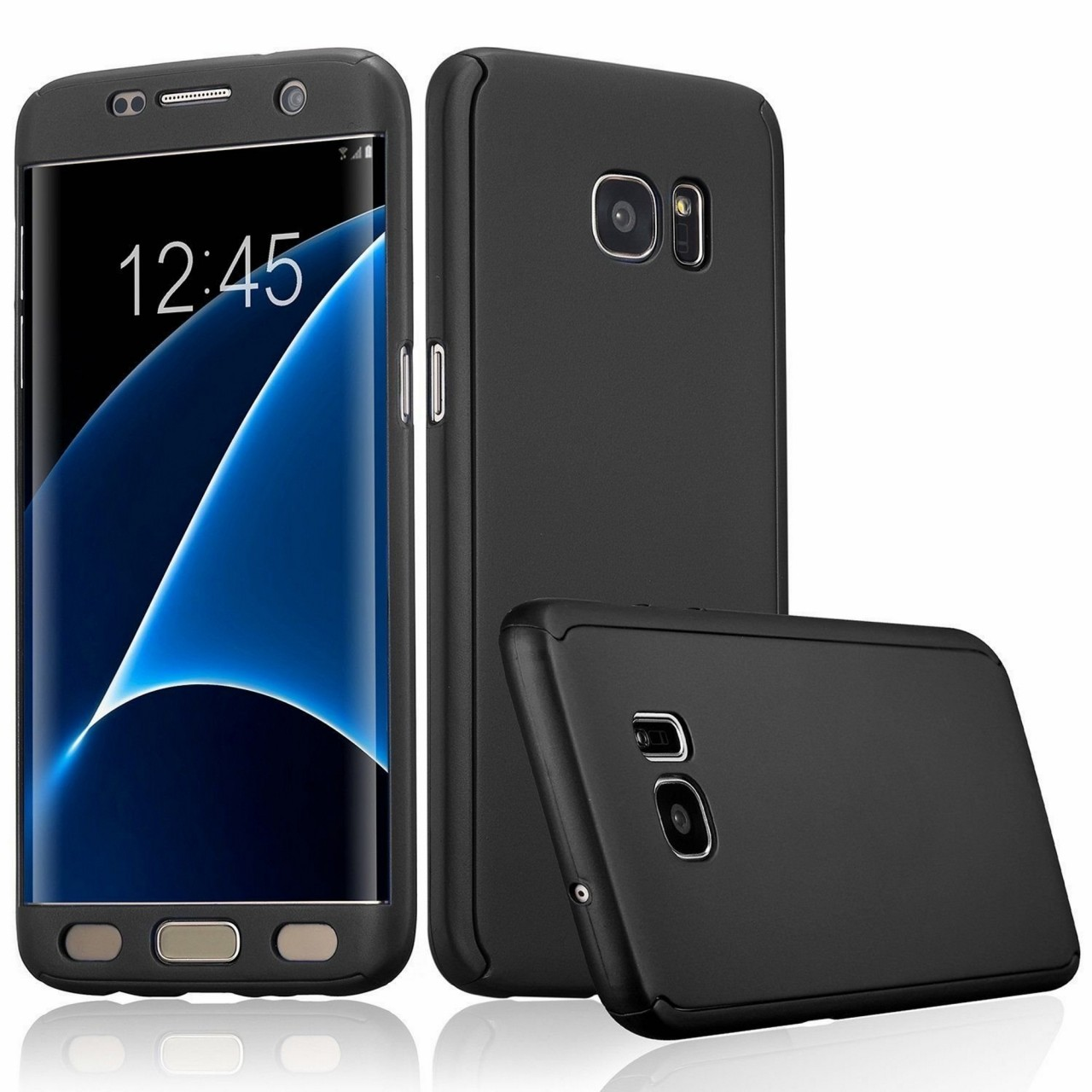 promo code b36bc e6a60 IPAKY Full Protection 360 Case For Samsung Galaxy S8 (Black)