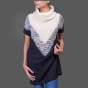 Fifth Avenue Women Black And White Sweaters 17022S14 in Pakistan