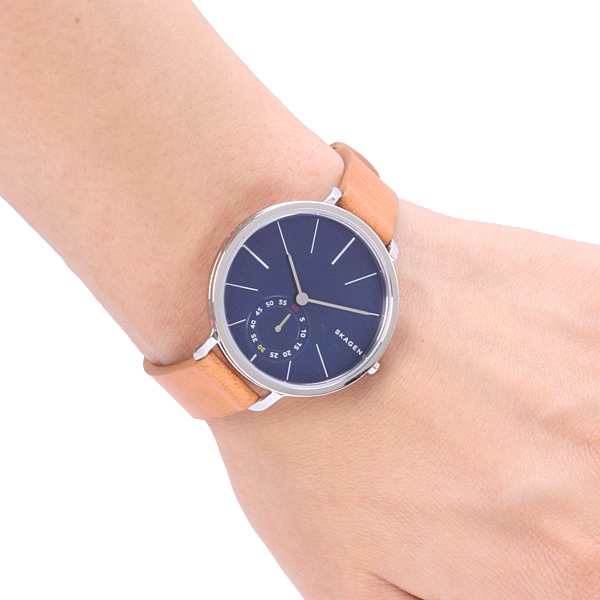 af5c145fa53b Skagen SKW2355 Women s Hagen Leather Strap Watch
