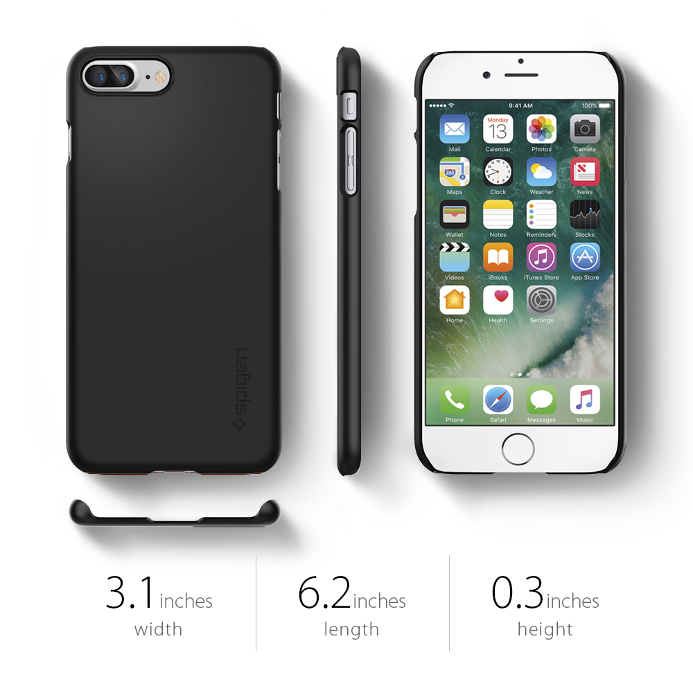 newest collection 832ea 69b47 Spigen Thin Fit Case For Apple iPhone 7 Plus SF Black
