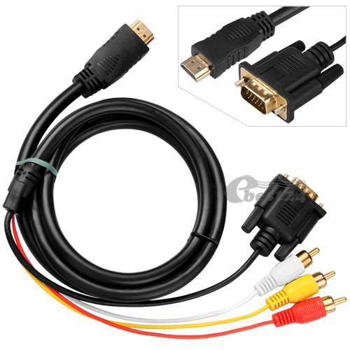 hdmi to vga 3 rca adapter converter cable in pakistan. Black Bedroom Furniture Sets. Home Design Ideas