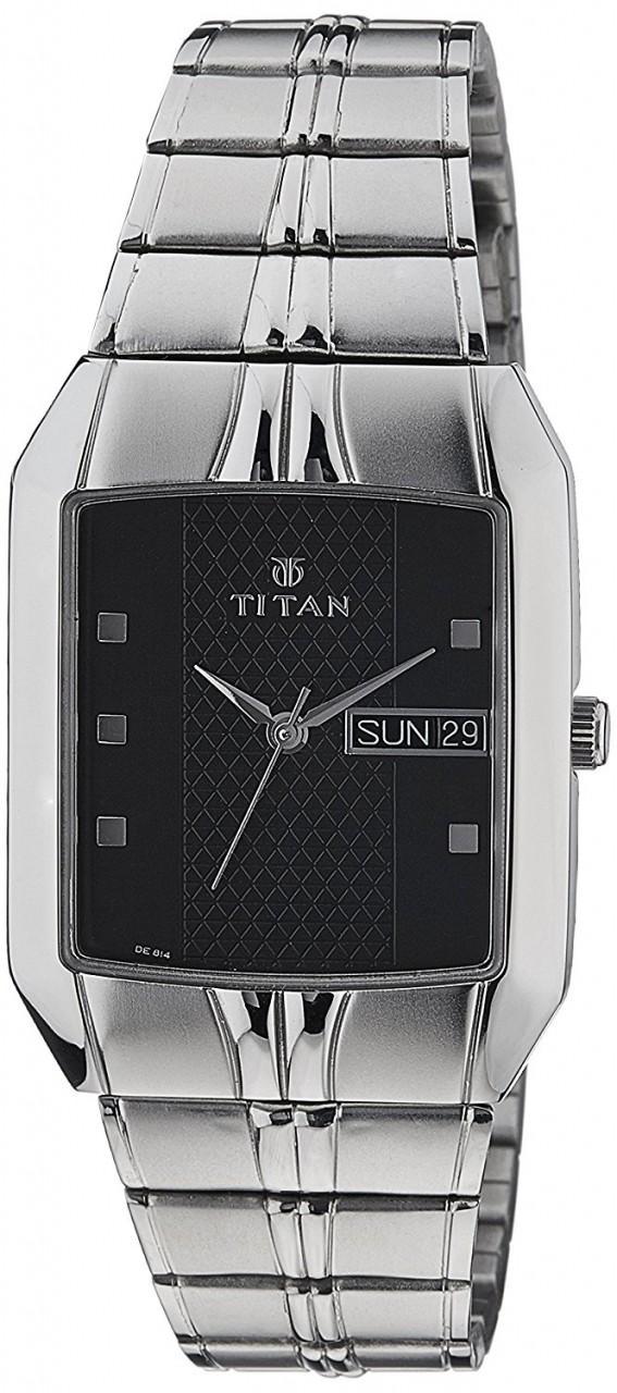 titan black dial watch for men s 9264sm05 home shopping