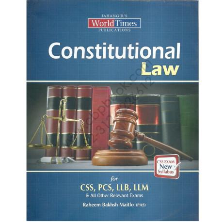 Constitutional Law By Raheem Baksh Maitlo