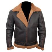 Aviator Brown Sheepskin Leather Jacket Price In Pakistan